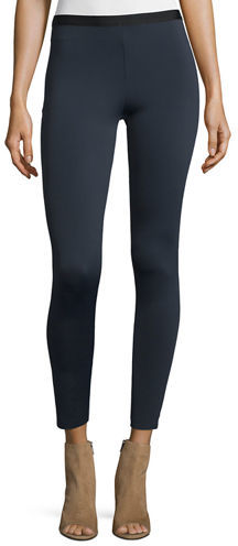 Helmut Lang Helmut Lang Cropped Neoprene Stretch Leggings
