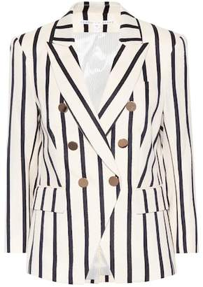 Veronica Beard Empire striped dickey blazer