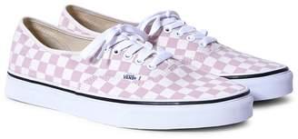 Vans Authentic Canvas Plimsolls Pink & White Checks