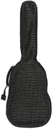 Saint Laurent Velvet Mesh & Glitter Guitar Case