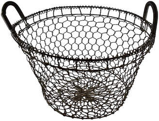 One Kings Lane Vintage 19th-C. French Country House Wire Basket