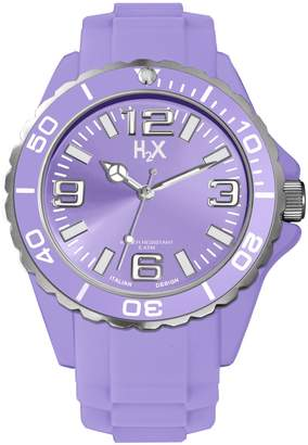 Haurex Italy Women's SL382DL1 Reef Luminous Water Resistant Lavender Soft Rubber Watch