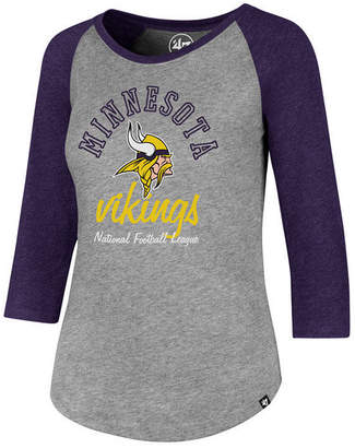 '47 Women's Minnesota Vikings Script Club Raglan T-Shirt