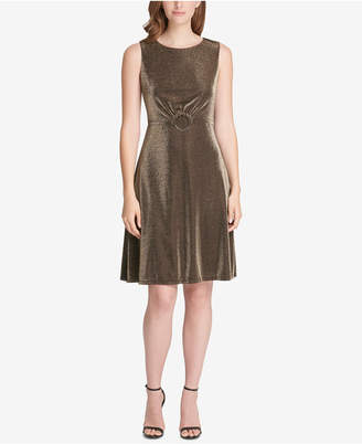 Tommy Hilfiger Metallic Stretch A-Line Dress