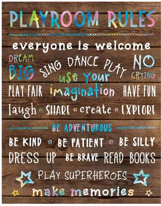 New View Gifts Playroom Rules Canvas Wall Art