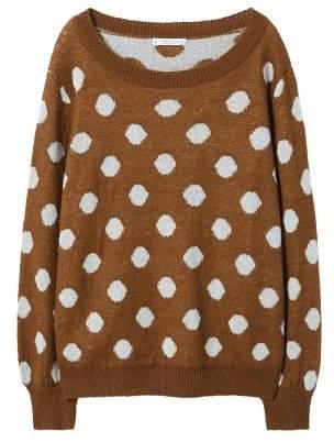 Violeta BY MANGO Polka-dot metallic sweater