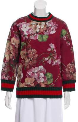 Gucci Floral Print Neoprene Sweatshirt