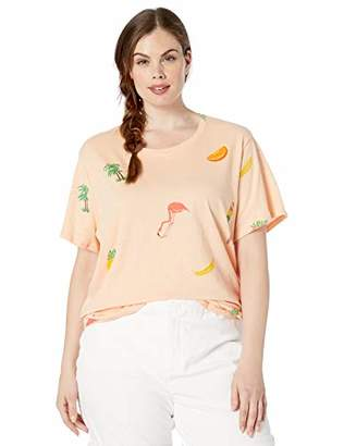 Lucky Brand Women's Plus Size Birds and Fruit TEE