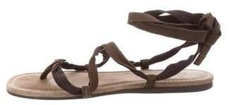 Lanvin Suede Thong Sandals
