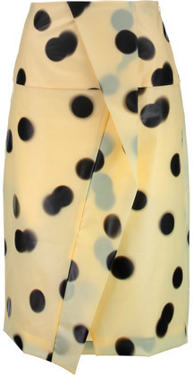 Marc by Marc Jacobs Misty Wrap-Effect Polka-Dot Pu Skirt