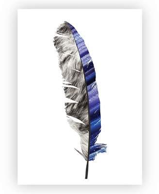 Design Mondo Minimalist Feather ,2 Art Print, A3