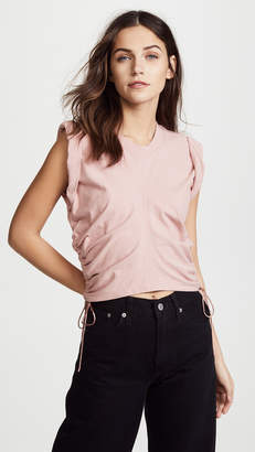 Alexander Wang Jersey Crop Top with Side Ties