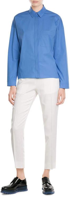 Jil SanderJil Sander Navy Stretch Cotton Shirt