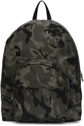 Alexander McQueen Green Small Camouflage Backpack
