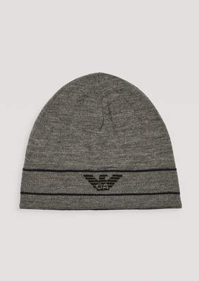 Emporio Armani Reversible Knitted Hat With Logo
