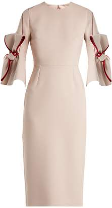Roksanda Lavete bow-sleeve bonded crepe dress