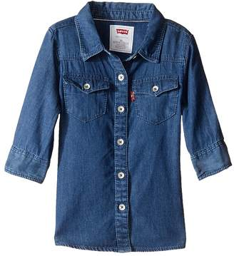 Levi's Girl's Long Sleeve Button Up