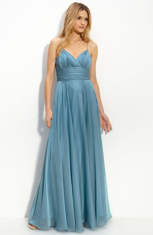 JS Collections Empire Waist Chiffon Gown