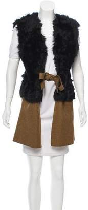 Marni Shearling and Wool-Blend Vest
