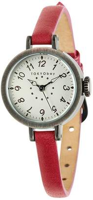 Tokyobay Tokyo Bay T2033-RD Women's Stainless Steel Red Leather Dial Watch