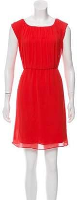 Alice + Olivia Silk Pleated Dress