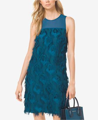 Michael Kors Feather-Trim Dress