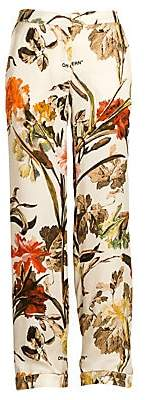 Off-White Women's Floral Pajama Pants