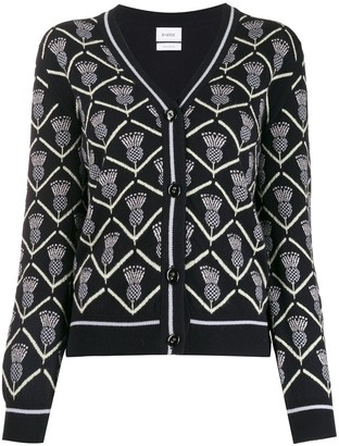 Barrie patterned-knit cashmere cardigan