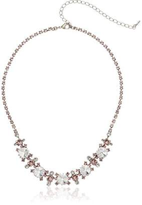 Sorrelli Crystal Rose Adorned Round Crystal Necklace