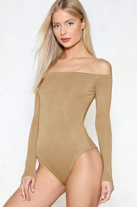 Nasty Gal It is What It is Off-the-Shoulder Bodysuit