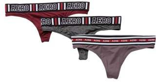 Aeropostale Elastic Thong Set - Pack of 3