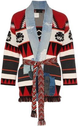 Alanui x Greg Lauren icon intarsia cashmere kimono