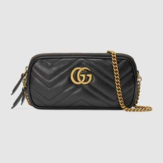 Gucci (グッチ) - 〔GGマーモント〕ミニ チェーンバッグ