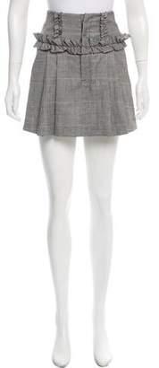 Marissa Webb Herringbone Wool Skirt