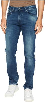 Mavi Jeans Marcus Slim Straight in Forest Blue/White Edge Men's Jeans