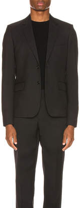 Saint Laurent Two Button Gabardine Blazer in Black | FWRD