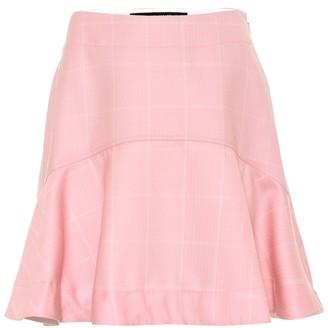 Calvin Klein Checked wool miniskirt