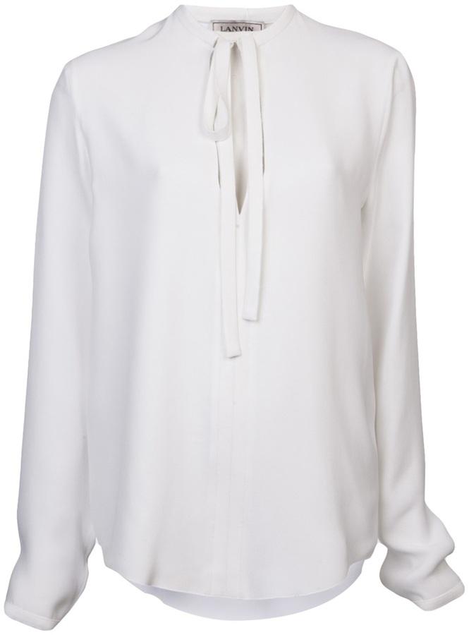 Lanvin bow detail blouse