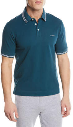 Z Zegna Contrast-Trim Polo Shirt