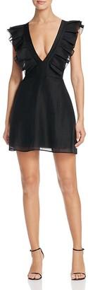 Keepsake Remind Me Ruffle Mini Dress $175 thestylecure.com