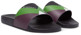 Givenchy Logo-Print Colour-Block Rubber Slides