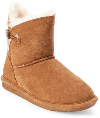 BearPaw Hickory Rosie Button Real Fur Boots