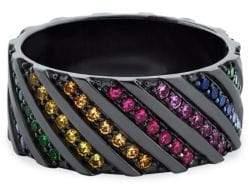Lana 14K Black Gold Sapphire Ring