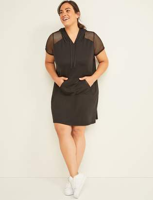 Lane Bryant LIVI Active Hooded Dress with Mesh