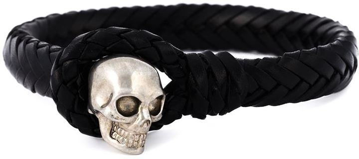 Alexander McQueenAlexander McQueen woven skull bracelet