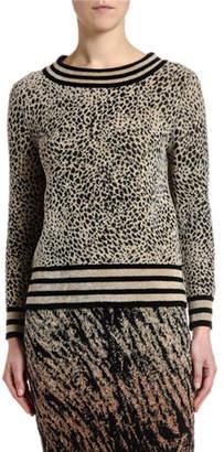 Antonio Marras Striped Micro Animal-Jacquard Sweater