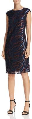 Nic+Zoe DRESS Sequin Lace Shift Dress