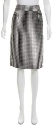 RED Valentino Knee-Length Houndstooth Skirt