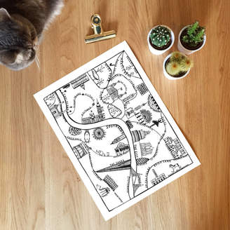 Places & Spaces Art Co. City Of London Illustrated Map Print