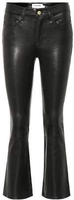 Le Crop leather pants